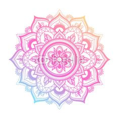 round gradient mandala on white isolated background. vector boho mandala in green and pink colors. mandala with floral patterns. Simple Mandala Tattoo, Henna Mandala, Mandala Drawing, Color Rosa, Pink Color, Rundes Tattoo, Rosas Vector, What Is A Mandala, Boho