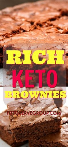 Michelle's Rich Keto Brownies produces the most traditional tasting brownie. Give these low carb keto brownies a try you will not be disappointed. Keto Brownies, Sugar Free Brownies, Low Carb Deserts, Low Carb Sweets, Atkins Recipes, Low Carb Recipes, Healthy Recipes, Brownie Recipes, Dessert Recipes