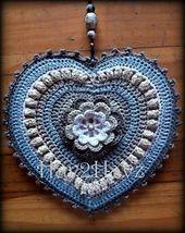 Ravelry: Heart - Adele Hanging Heart pattern by Rene Grabie