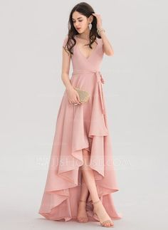 A-Line/Princess V-neck Asymmetrical Stretch Crepe Prom Dresses - Pro. - - A-Line/Princess V-neck Asymmetrical Stretch Crepe Prom Dresses – Prom Dresses – JJ's House Source by lauramarinr Stylish Dresses, Elegant Dresses, Pretty Dresses, Beautiful Dresses, Formal Dresses, A Line Dresses, V Neck Prom Dresses, Dress Prom, Maxi Dresses