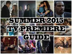Here Are The Premiere Dates For 2015's Summer TV