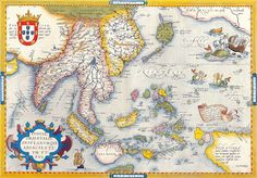 Portuguese Map of South East Asia - 1590