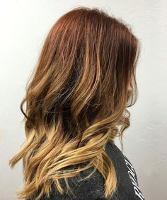 "103 Likes, 13 Comments - ✂️Artist| Blondes |Balayage (@evanstowers) on Instagram: ""Loving this color melt from last night.  She's naturally auburn so it was fun to play off her tones…"""