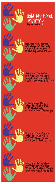Hold My Hand Mummy | Poem