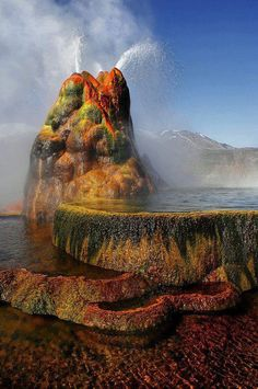 Fly Geyser, Nevada, Western US