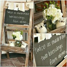 A awesome announcement at a baby shower for expecting twins