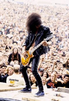 Slash of Guns N' Roses, late '80s