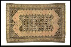 Elegant antique melayer rug(north Persia)  two medaillion with eagle birds right and left and small birds in the field. Black indigo blue and beige. Henide@hotmail.com 25 rue la Boétie  Paris