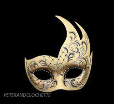 MASQUE LOUP DE VENISE CYGNE GRIS AUTHENTIQUE VENITIEN - masques venitiens - masque venitien - masque venise boutique