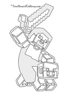 Minecraft Steve Diamond Armor coloring page from Minecraft