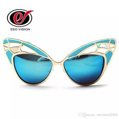 Butterfly Sunglasses for Woman New Cat Eye Sunglasses Brand Designer for Sale Mirror Pink Blue Oversize Sunglasses Discount Retails China Butterfly Sunglasses Cat Eye Sunglasses Designer Sungalsses for Woman Online with $15.99/Piece on Esovision2016's Store | DHgate.com