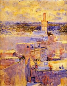"""Théo VAN RYSSELBERGHE (1862-1926), """"Vue de Meknès"""", 1888, Musée d'Ixelles…"""