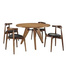 Tourned Dining Chairs And Table Set Of 5