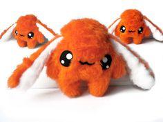 Fluse Kawaii Plush Monster Rabbit Orange von Fluse123 auf Etsy, €22.00