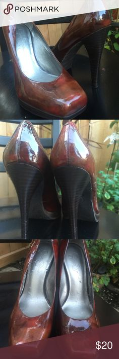 Jessica Simpson marbled heels Gorgeous brown marble heels. Worn two times. Jessica Simpson Shoes Heels