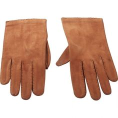 Pre-owned Christian Dior Leather Gloves (510 RON) ❤ liked on Polyvore featuring accessories, gloves, camel, real leather gloves, dot gloves, vintage gloves, vintage leather gloves and christian dior
