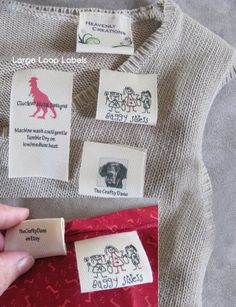 Custom clothing labels using your logo or artwork for your Shop or Personal sew in eco-friendly cotton labels
