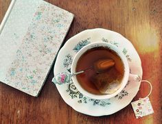 Curled up with a cup of tea and a good book by Kerry Gauthier on Etsy Coffee And Books, My Cup Of Tea, Chocolate, Simple Pleasures, High Tea, Drinking Tea, Afternoon Tea, Tea Time, Tea Party