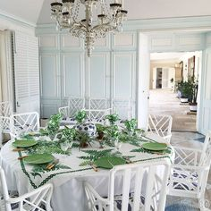 Green summer table