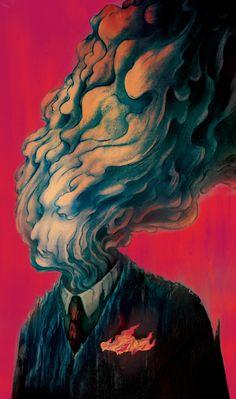 Smoked Out Illustration Psychedelic Art, Arte Dope, Urbane Kunst, Images Esthétiques, Arte Obscura, Arte Sketchbook, Ap Art, Weird Art, Surreal Art