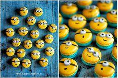 Vanilkové makronky (Mimoni) - Vanilla macarons (Minions) www.peknevypecenyblog.cz Minion Theme, Minion Birthday, Minion Party, Mini Cupcakes, Cupcake Cakes, Minions, Macaron Recipe, Sweets Cake, Chocolate Covered Oreos