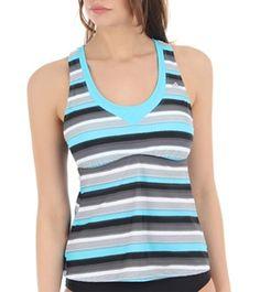 Adidas Stripe Tankini Top