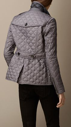 Double-Breasted Diamond Quilt Jacket | Burberry Brit