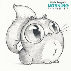WEBSTA @ chrisryniak - Majesticat is all eyes, no brains.  #morningscribbles