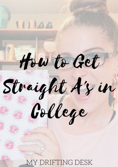 Today I wanted to share with you my tips and secrets to acing your college classes and getting that you've always wanted. You can wither watch my tips to getting straight A̵… College Classes, College Hacks, Education College, College Life, College Ready, College Packing, College Planner, Dorm Life, Weekly Planner