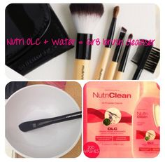 When did you last clean your brushes?? 1. Fill a bowl with warm water 2. Add a squirt of nutri OLC 3. Watch the makeup/dirt/dust come out of your brushes! 4. Let dry naturally and feel how soft the bristles are! 5. Repeat WEEKLY No more bacteria or nasties on your clean skin! Order your OLC today! www.nutrimetics.com.au/cherina