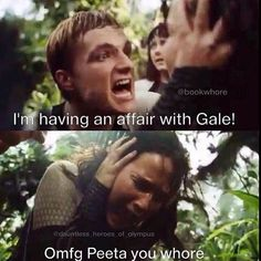 Lol haha funny pics / pictures / Hunger Games Humor / Catching Fire / Peeta / Gale / Katniss