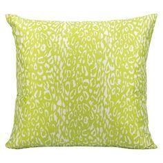 Green Leopard Indoor Outdoor Throw Pillow 20 X20 Nourison