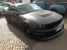 Matte black Ford Mustang