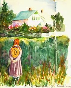 Kim Stenberg's Painting Journal: From the Illustrated Journal Pages of My Summer Vacation (watercolor, pencil, and pen) Anne Shirley, Watercolor Pencils, Watercolour Painting, Painting Flowers, Anne Auf Green Gables, Anne With An E, Encaustic Painting, Heart For Kids, Painting Inspiration