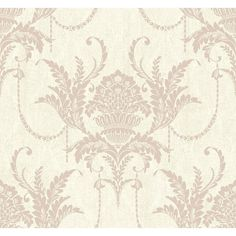 Charcoal Wallpaper, Damask Wallpaper, Vinyl Wallpaper, Wallpaper Backgrounds, Damask Patterns, H&m Home, Acanthus, Drapery, Inktober