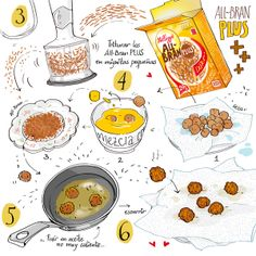 Cartoon Cooking: All-Bran empanaditos de soja ^.^