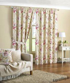Грамотная драпировка окон в вашем доме Floral Curtains, Lined Curtains, Cortina Floral, Rideaux Design, Curtain Designs, Home Furnishings, Room Decor, Living Room, Interior Design
