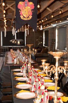 Dining Hall from a Harry Potter Birthday Party via Kara's Party Ideas KarasPartyIdeas.com (31)