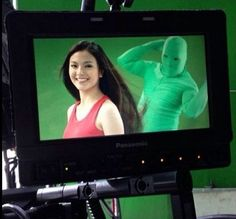 Creepy secret: Rather than using a fan, commercial and movie studios sometimes employ 'greenscreen fluffers' - people dressed in chroma key gimpsuits - to create windswept effects