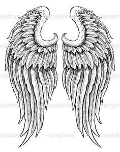 Herunterladen - Hand gezeichneten Engel Flügel — Stockillustration #27056697