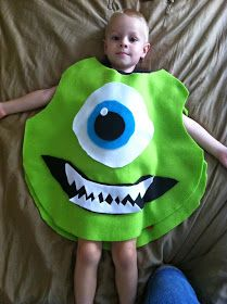 5793bdb0ed02 Chadwicks  Picture Place  Homemade Mike Wazowski Halloween Costume Mike  Monsters Inc Costume
