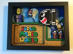 Super Mario World Shadow Box Cartridge Holder by GlitchArtwork