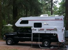 Lance camper like the one Jeff and I are buying! Lance Campers, Truck Camper, Chevrolet Silverado, Chevy Trucks, Recreational Vehicles, Rv, Camping, American, Bucket