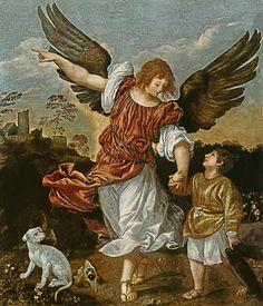 Escuela de Tiziano / Tobias y el arcángel Rafael