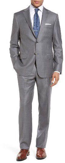 Men's Hickey Freeman Classic Fit Stripe Wool Suit