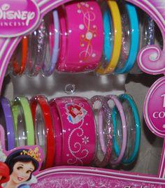 Disney Princess Bangles Set 15 count NEW in box Party Favors #Disney