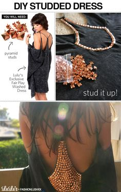 DIY Studded dress