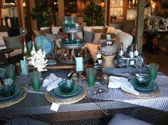 Pottery Barn beach table setting
