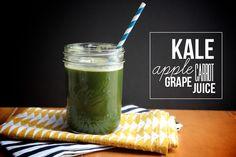 Kale Apple Grape Carrot Juice // shutterbean