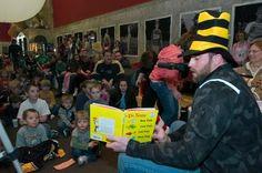 Brett reading to the kiddos.